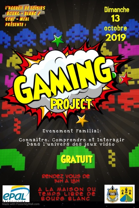 Affiche gaming 13 oct 2019